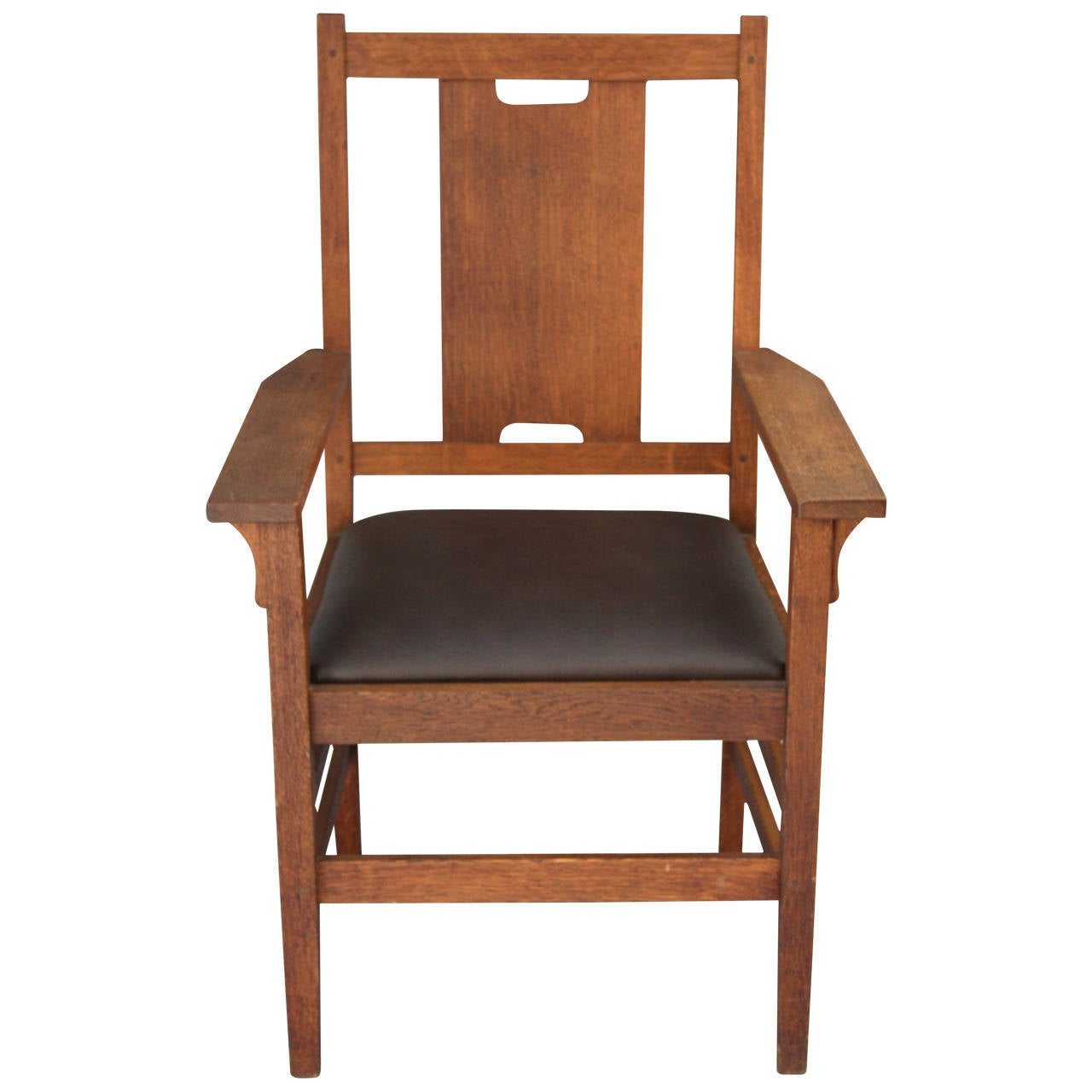 Stickley Chair H Back Arts And Crafts Chair Attributed To Gustav Stickley