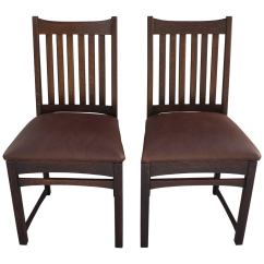 Mission Chairs For Sale Swivel Chair Effect Antique Pair Of Lifetime Art And Crafts Side