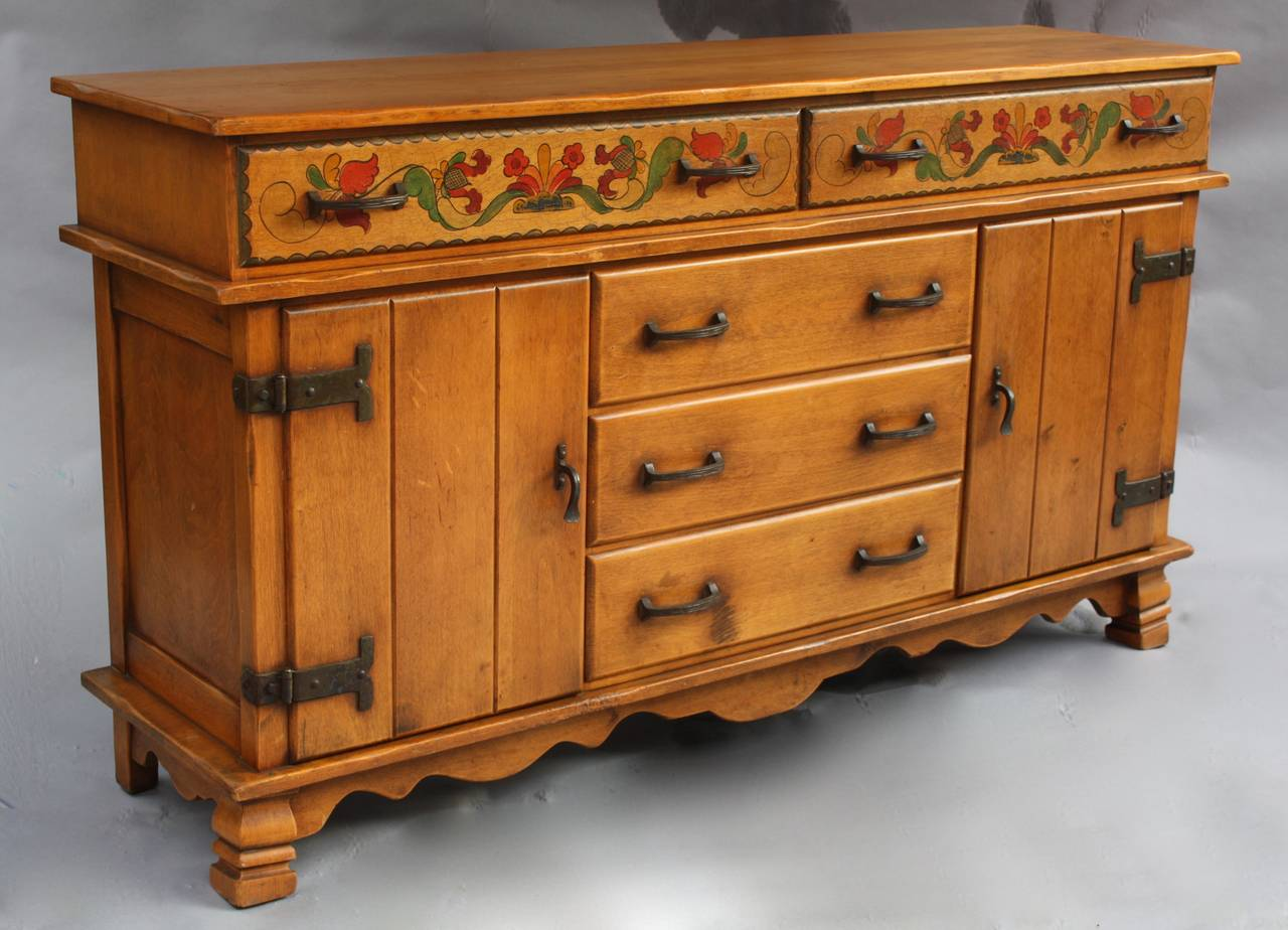 Signed Monterey Sideboard Or Buffet In The California