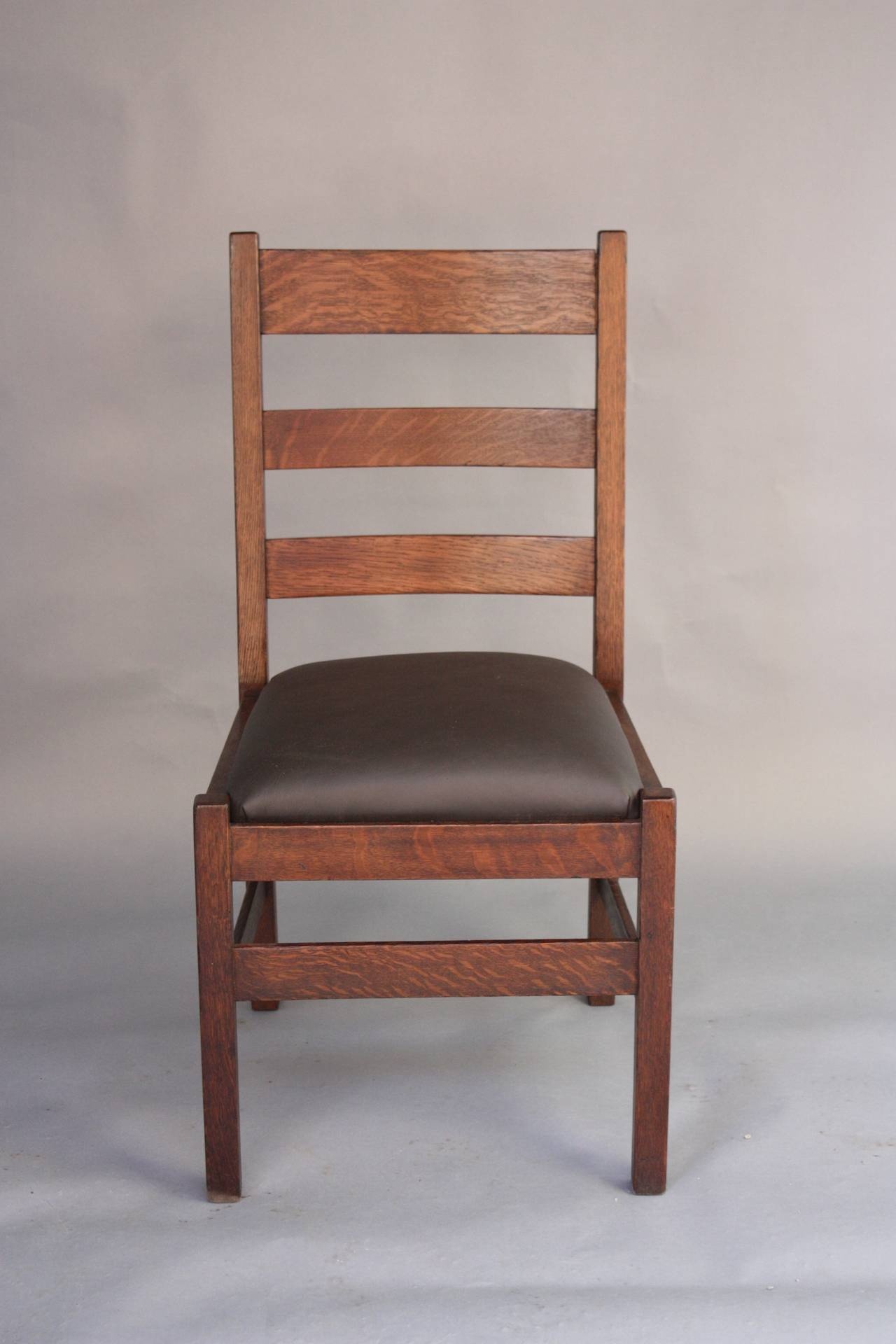 Stickley Chair 1910 Arts And Crafts Side Chair By Stickley And Brandt