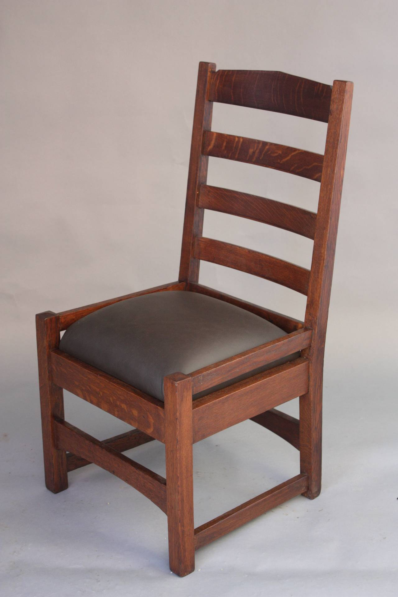 arts and crafts chairs chair cover hire hawkes bay 1910 mission oak ladder back for