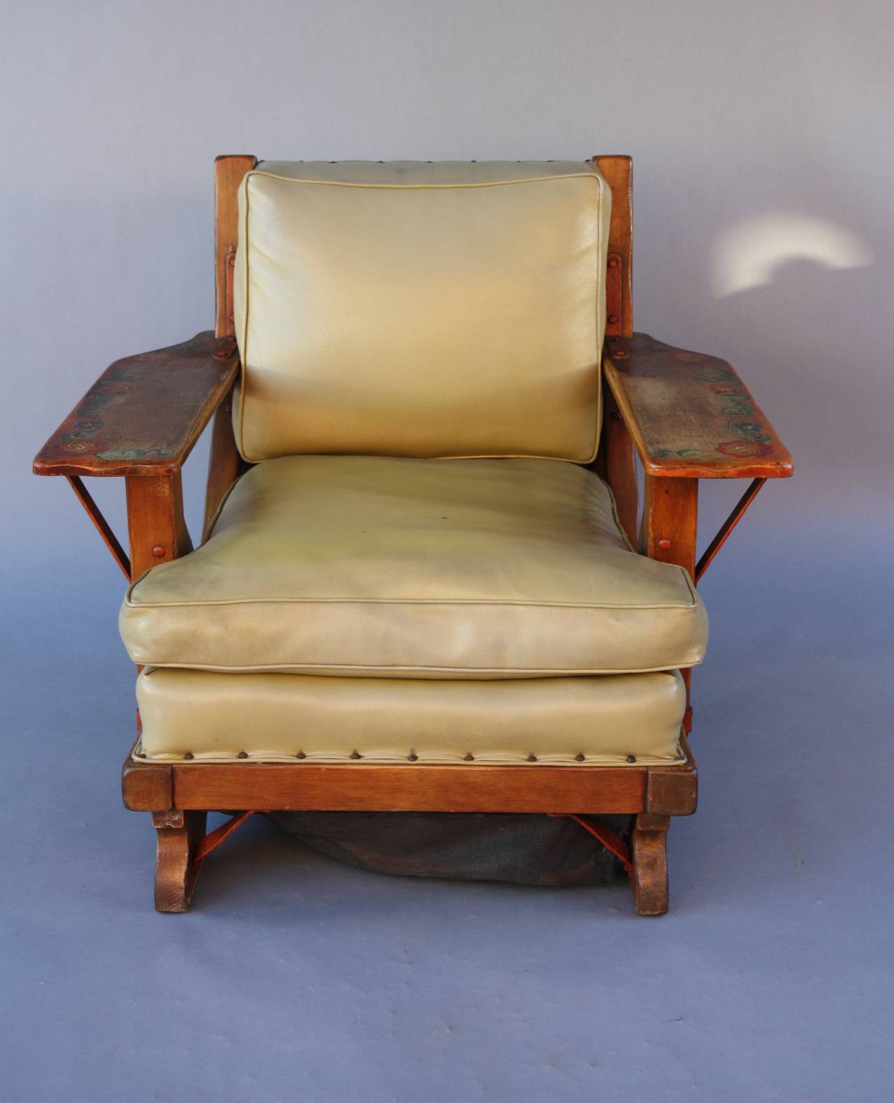 Due North Chairs Antique Rancho Large Scale Monterey Armchair At 1stdibs