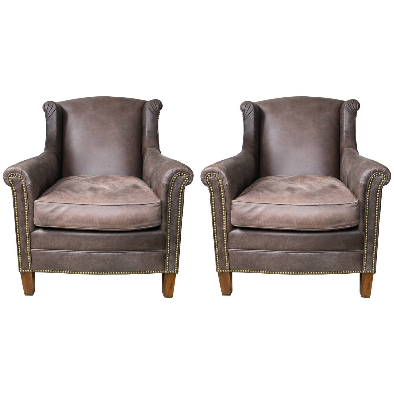 ralph lauren chair shiatsu massager pair of leather club chairs at 1stdibs