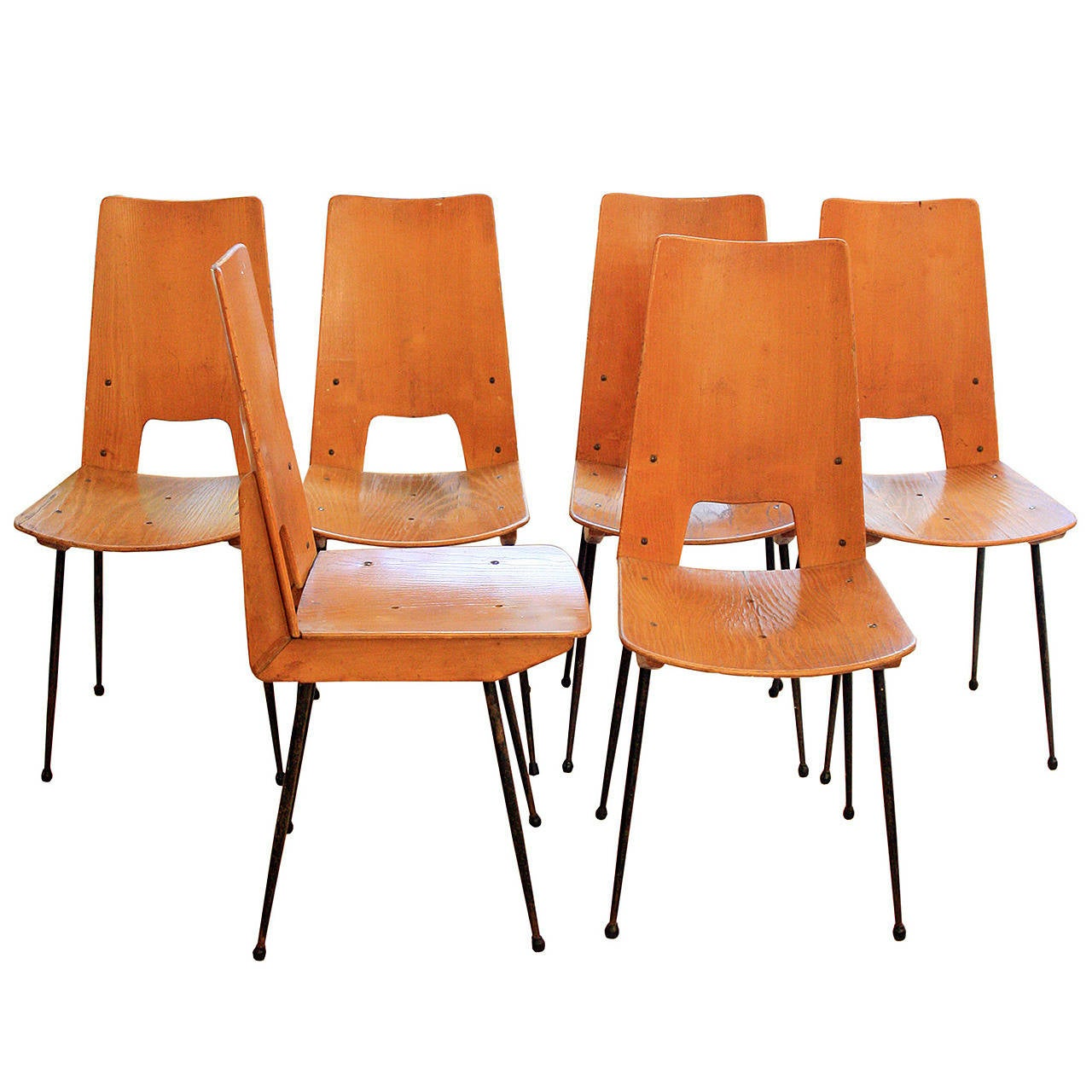 american leather swing chair red swivel office set of six 1950s chairs at 1stdibs