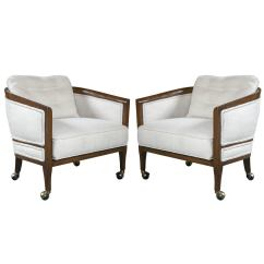 Chairs On Casters Modern For Sale Pair Of Mid Century Club At 1stdibs
