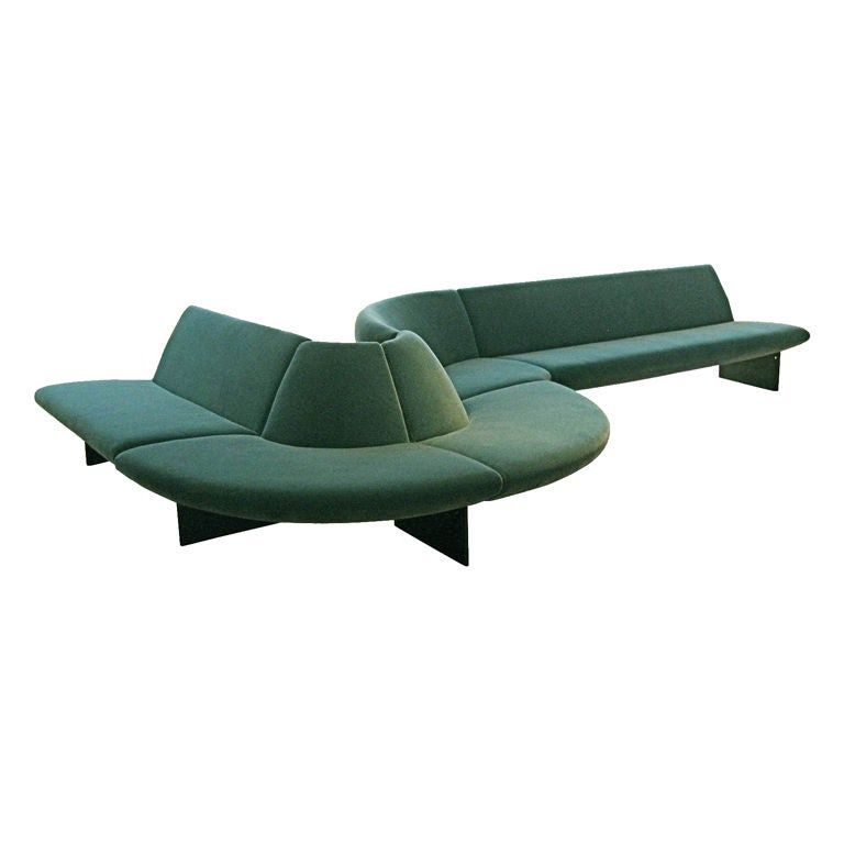 leather sectional sofa tufted lillian august wright 'serpentine' sofa, by tom dixon, prototype at 1stdibs
