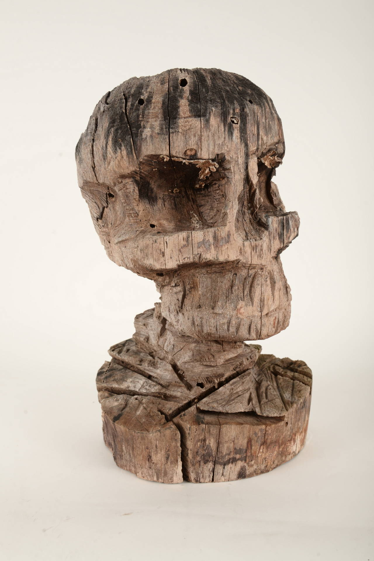 wooden skull chair banquet covers diy chainsaw sculpture at 1stdibs