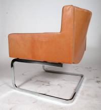 Swedish Chrome and Leather Chairs at 1stdibs