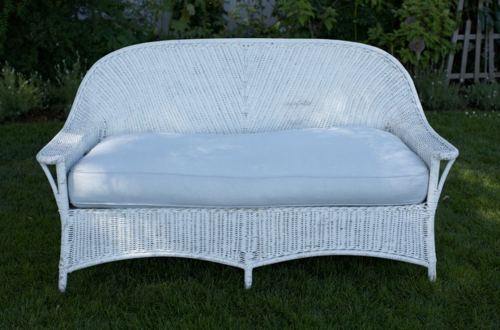 sectional sofas seattle clearance corner sofa bed the perfect white wicker sofa... at 1stdibs