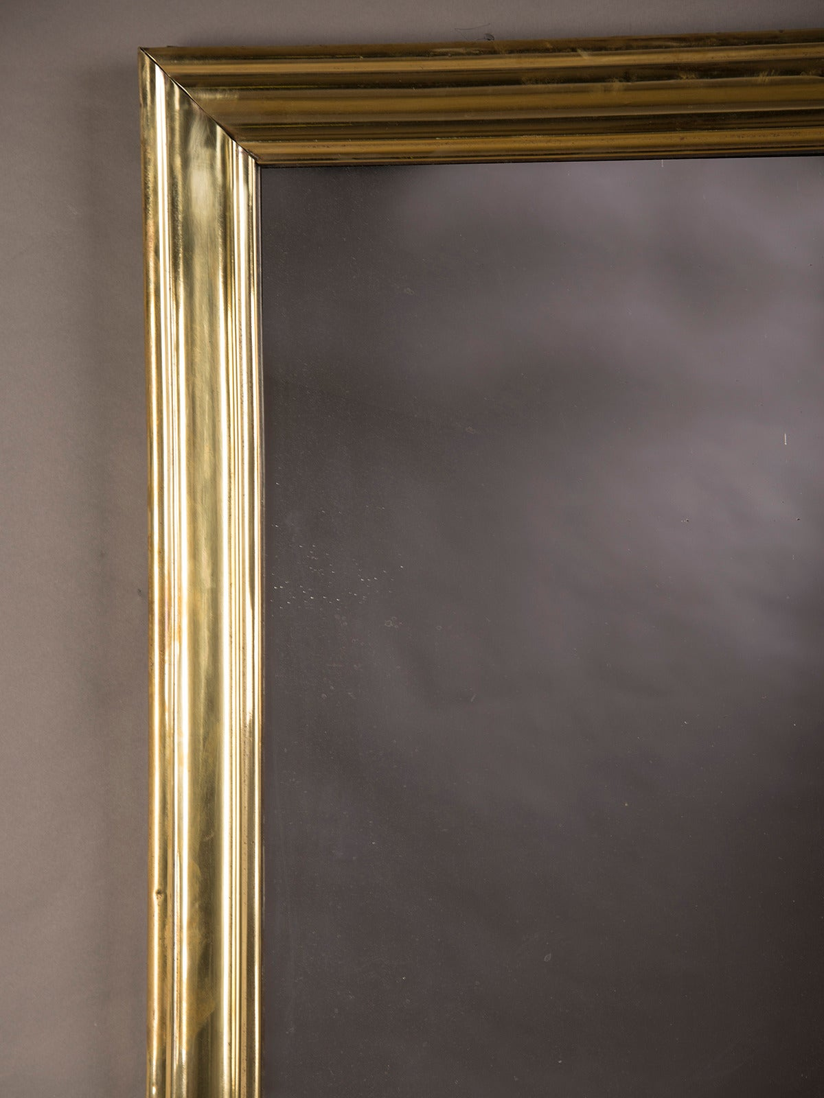 Brass Ribbed Frame Antique French Bistro Mirror Circa 1875 At 1stdibs