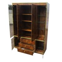 Thomasville Burled Wood China Cabinet at 1stdibs