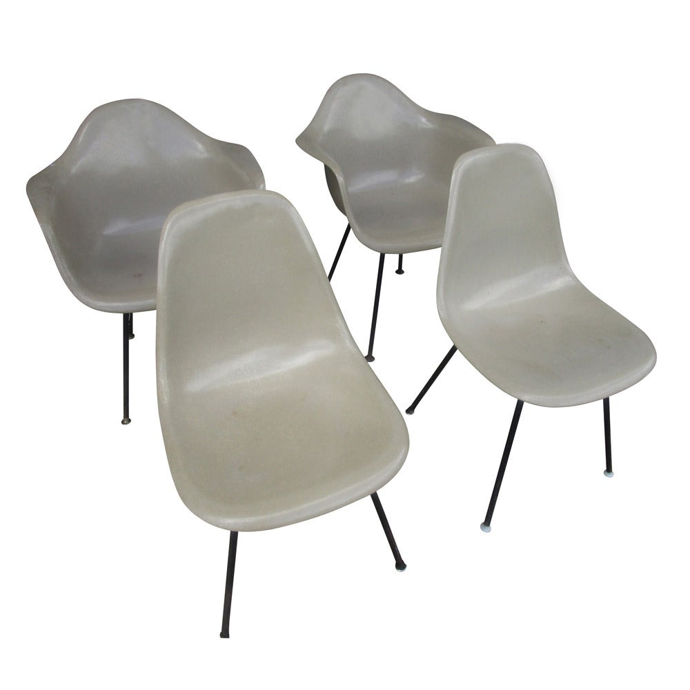 Vintage MidCentury Modern Fiberglass Shell Chair by Eames