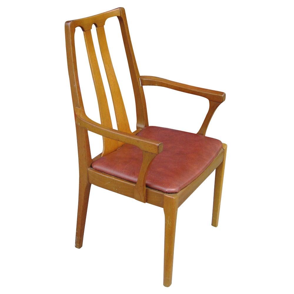 Six Vintage Danish Mid-Century Modern Dining Chairs at 1stdibs