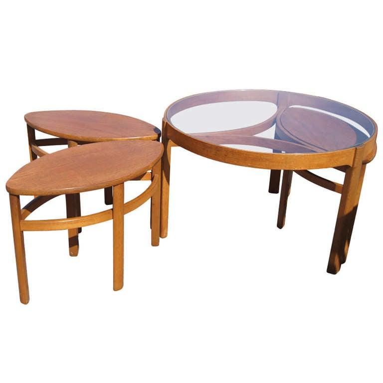 Vintage Danish Nesting Coffee Table Set At 1stdibs