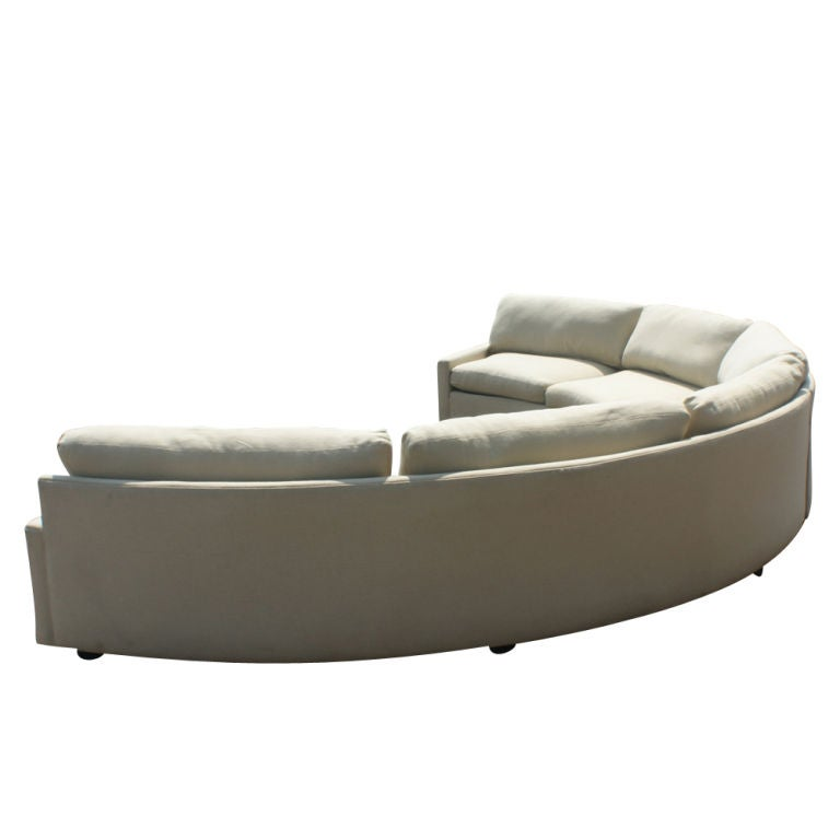 fabric protection for sofas white leather sofa bed milo baughman thayer coggin semi-circular sectional at ...