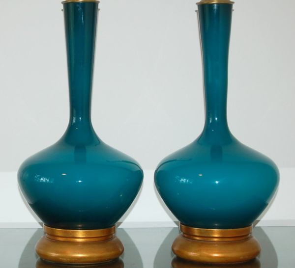 Vintage Hand Blown Glass Lamps