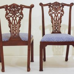 Maitland Smith Dining Chairs Restaurant Tables And Set Of 16 Chippendale Style Ribband Back By