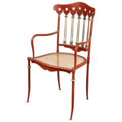 Red Chairs For Sale Damask Chair Covers Uk Austrian Iron Circa 1910 At 1stdibs