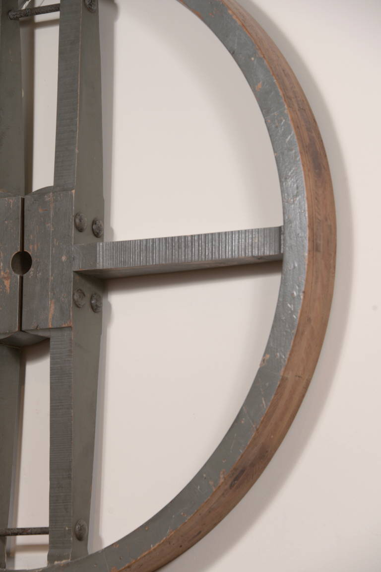 English Wooden Gear as Wall Decor at 1stdibs