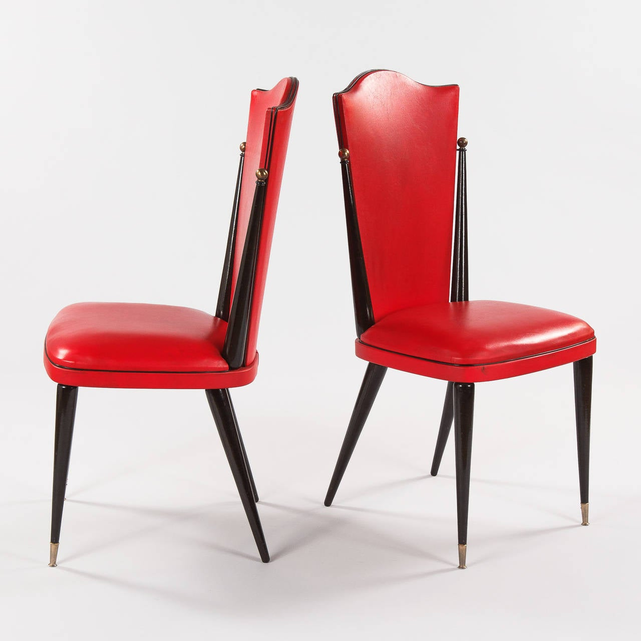 red chairs for sale george nakashima chair pair of vintage french vinyl side 1960s