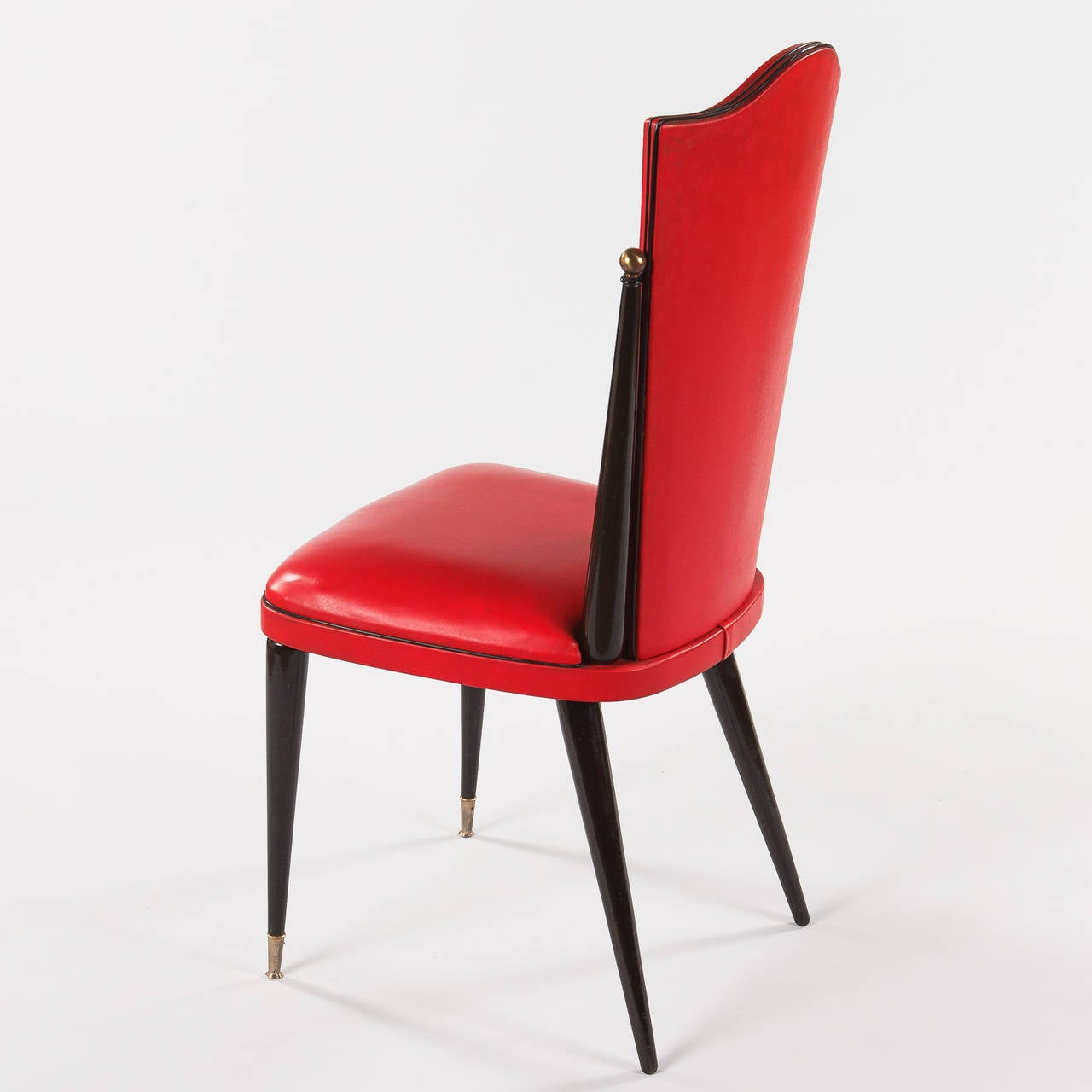 red chairs for sale barber waiting pair of vintage french vinyl side 1960s