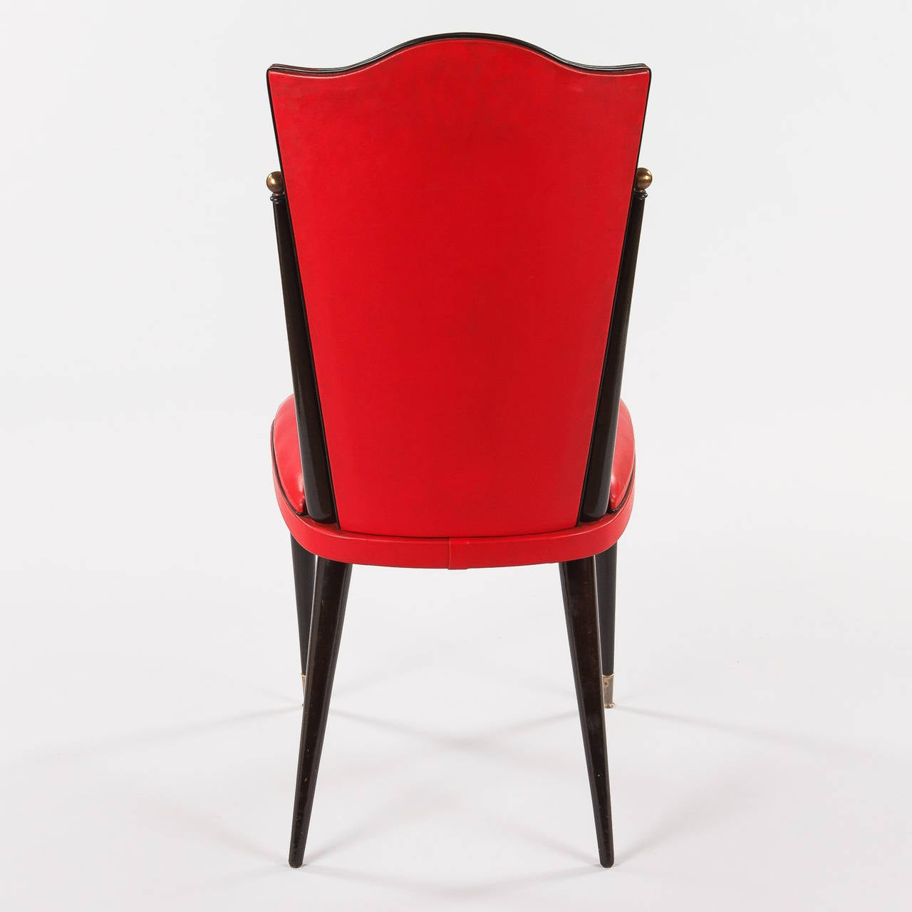 red chairs for sale ergonomic chair brand pair of vintage french vinyl side 1960s