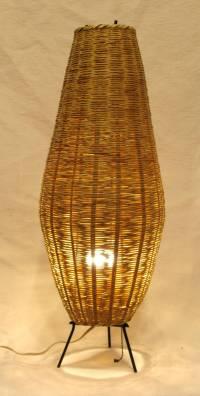 Oblong Wicker Lamp at 1stdibs