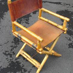 Bamboo Directors Chairs Overstock Zero Gravity Chair Pair Of And Leather Director 39s At 1stdibs