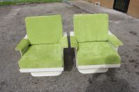 Pair French Futuristic Fiberglass Armchairs at 1stdibs