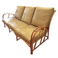 Mid Century Modern Living Room Armchair Slate Tile Floor Vintage Heywood-wakefield Rattan Set At 1stdibs
