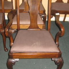 Queen Anne Dining Chair Where Can I Buy Covers Set Of Eight Mahogany Chairs At 1stdibs