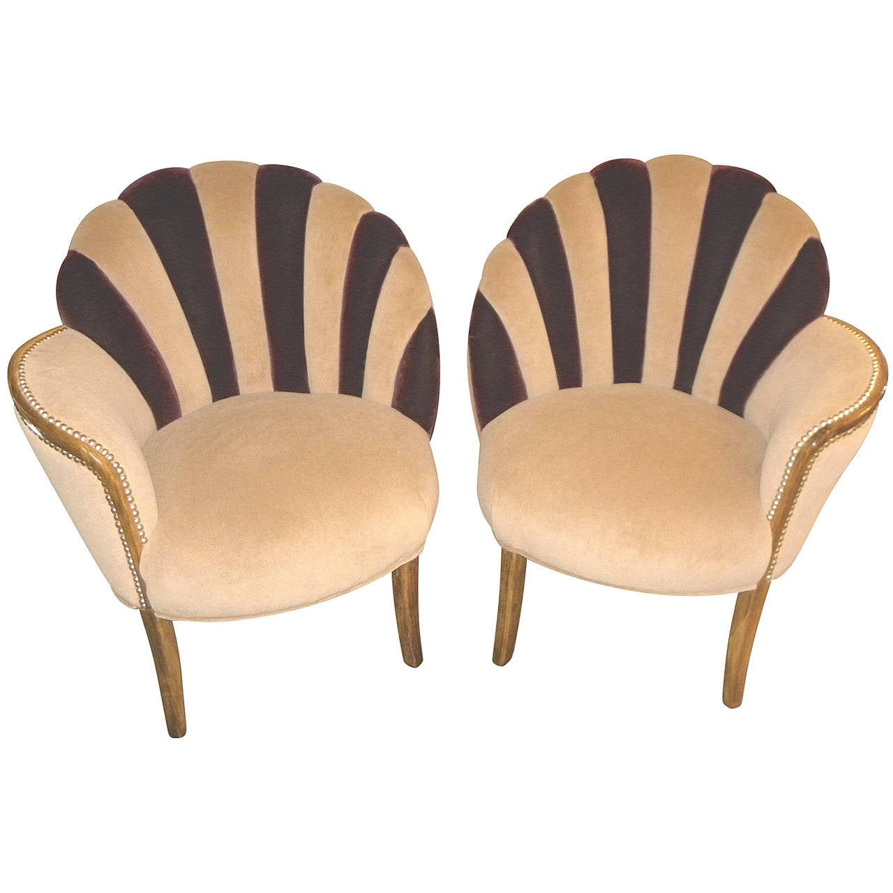 art deco kitchen chairs chair cover hire in leeds high style fan backed side for sale at 1stdibs