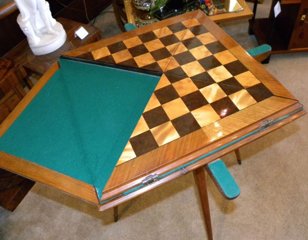 Fabulous Art Deco Game and Card Table Combo at 1stdibs
