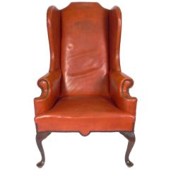 Leather Wingback Chairs Gaming Chair Compatible With Xbox One Cognac At 1stdibs