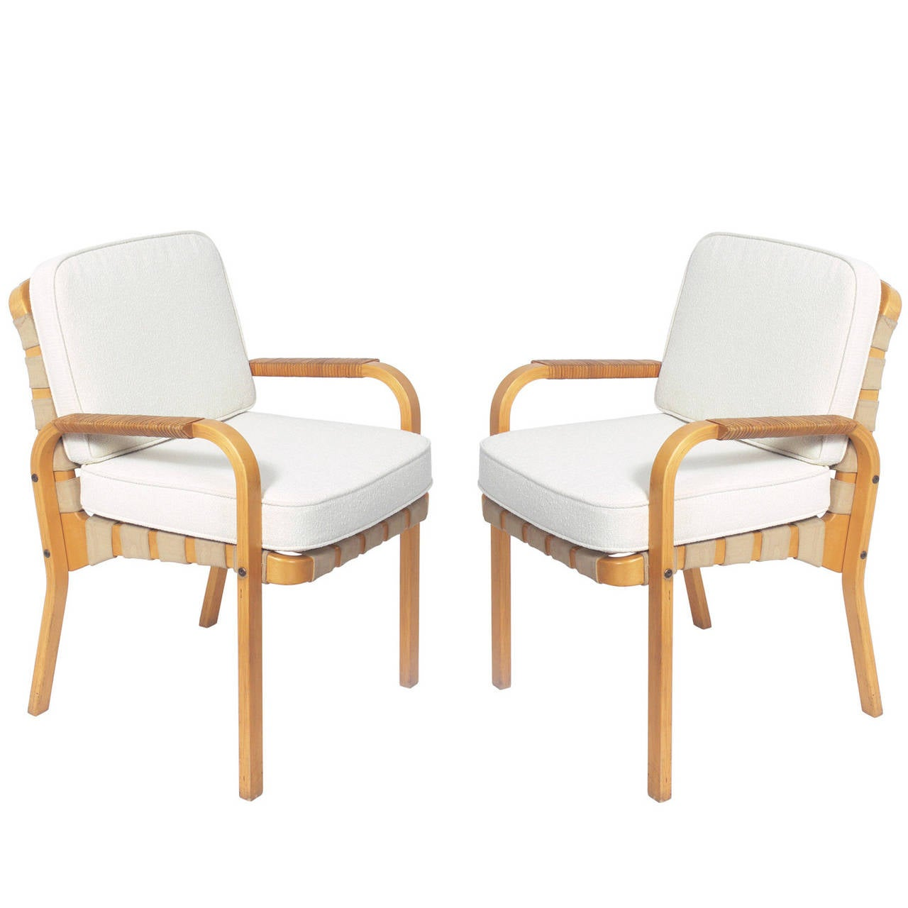modern bentwood chairs stressless chair squeaks pair of lounge designed by alvar