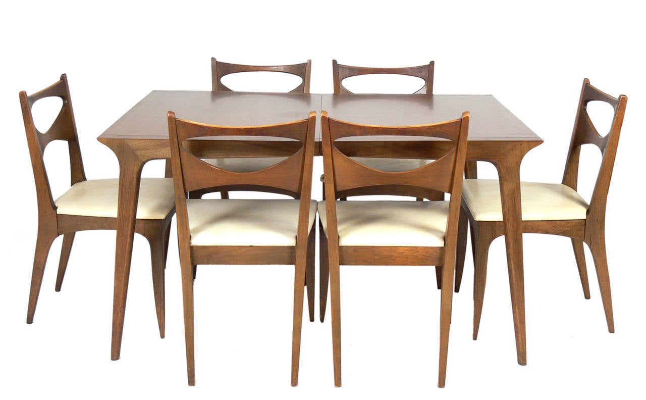 Mid Century Modern Dining Chair Set Of Six Mid Century Modern Dining Chairs By John Van