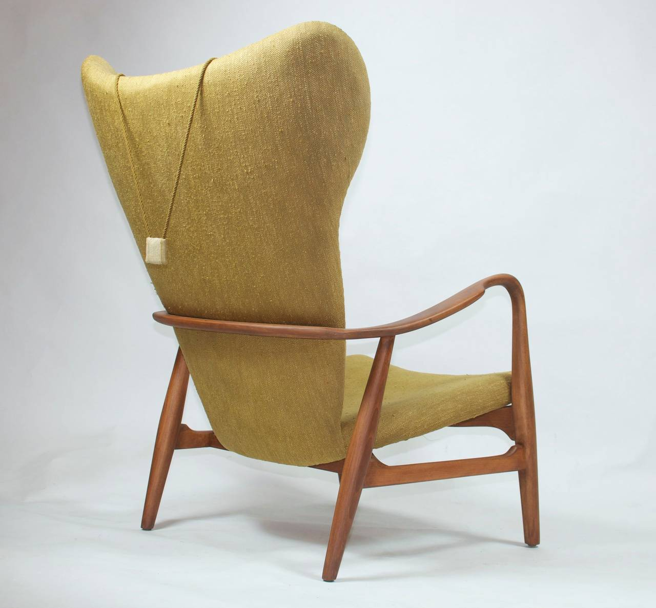 Danish Lounge Chair Madsen And Schubell High Back Danish Lounge Chair At 1stdibs