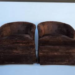 Barrel Chairs Swivel Rocker Cotton Lounge Chair Covers Pair Of Petit Rocking For Sale At 1stdibs