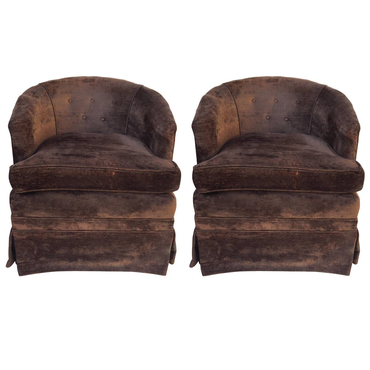 swivel chairs for sale royal baby shower chair pair of petit rocking barrel at 1stdibs