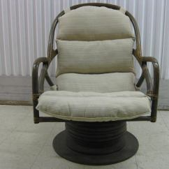 Swivel Chair In Spanish Age For High Restaurant Pair Of Rattan Rocking Lounge Chairs At 1stdibs