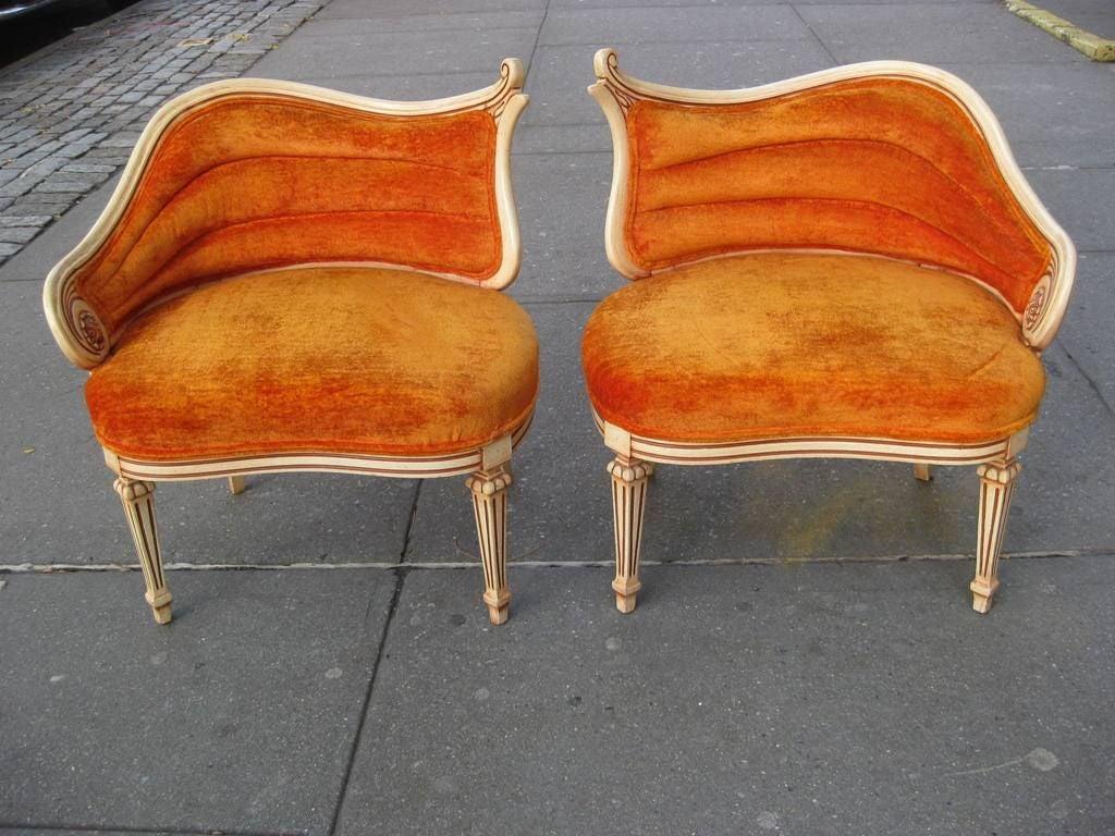 cheap hand chair hair braiding chairs pair of asymmetrical lounge at 1stdibs
