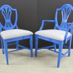 Set Of Six Dining Chairs For Sale Painted Chair Ideas Blue At 1stdibs
