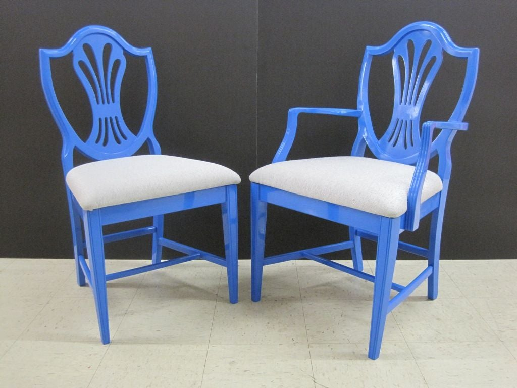 Blue Dining Chairs Set Of Six Blue Dining Chairs