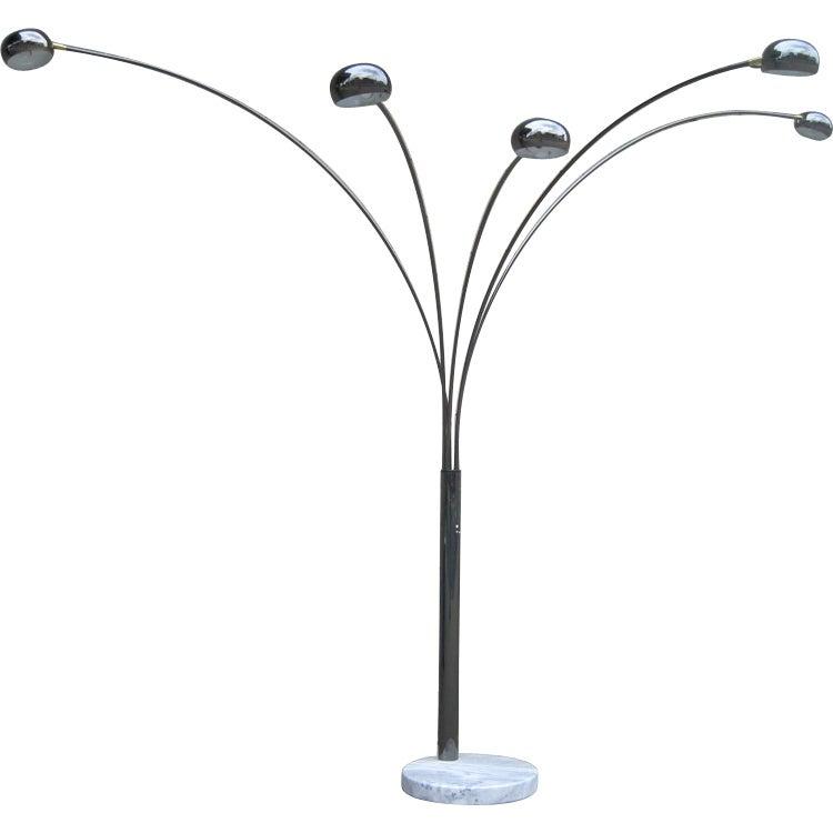 FiveArm Arc Floor Lamp at 1stdibs