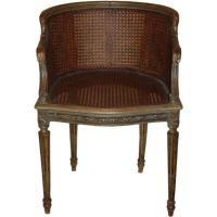 Louis XVI Style Beechwood and Cane Boudoir Chair at 1stdibs