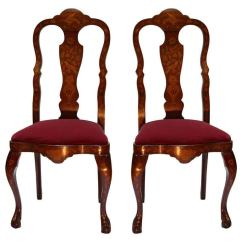 Queen Anne Style Chair Zebra Swing Side Chairs 35 For Sale At 1stdibs Pair Of Anglo Dutch