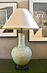 Marbro Chinese Celadon Lamp at 1stdibs