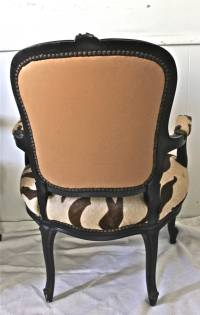 Pair of Louis XV Style Chairs in Dyed Tiger Hyde at 1stdibs