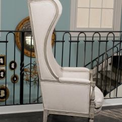 High Back Wing Chairs Reupholster Outdoor American Upholstered Painted Wood Chair At