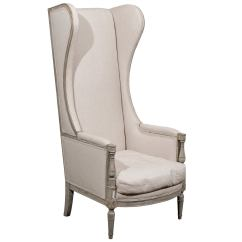 High Backed Throne Chair Oversized Anti Gravity American Upholstered Painted Wood Back Wing At